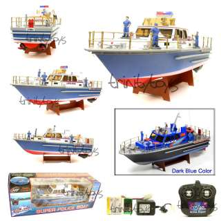 SUPER POLICE BOAT RADIO CONTROLLED RC RTR R/C BOAT NEW