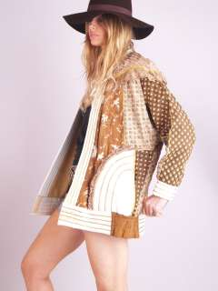 PAINTED LEATHER Sequin Lace FEATHER BEADED Draped Cape Dress JACKET