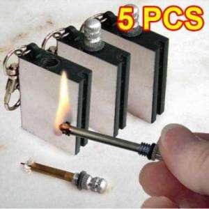 Metal Match Box cigar Cigarette lighter Key Ring