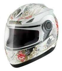 SHARK S500 HELLBEL Motorcycle Crash Helmet XL WQR