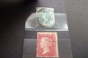 QUEEN VICTORIA HALFPENNY AND PENNY RED STAMP SET