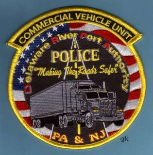 NEW JERSEY PORT AUTHORITY COMMERCIAL VEHICLE UNIT POLICE PATCH