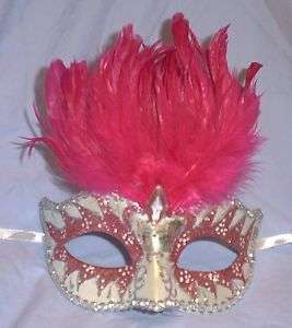 Pearl Small Kid Venetian Masquerade Feather Mask 831687032295