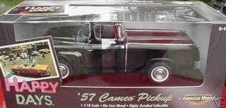 ERTL 118 1957 Chevy Cameo Pickup Black Happy Days