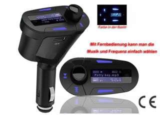 FM Transmitter  Player für KFZ Auto PKW LKW Car Radio SD TF USB