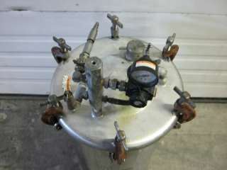 10 Gal Paint Pot Stainless Steel ASME High Pressure Sprayer