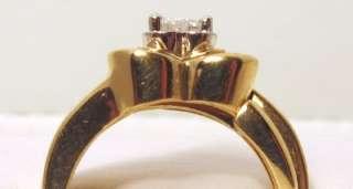 25ct VS2 Sides 0.25ct VS2 14K Yellow Gold Heart Shape Ring Set