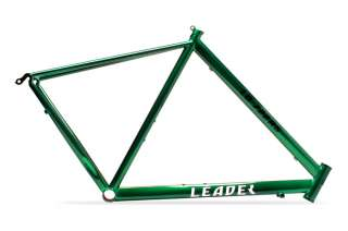 LEADER 722RS GREEN STEEL ROAD BIKE FRAME 65CM W/ FORK