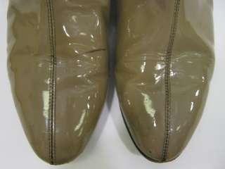 LOEFFLER RANDALL Tan Patent Leather Knee High Boots