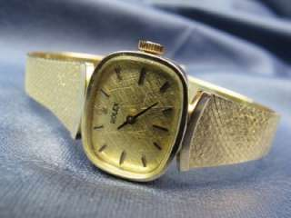 Vintage Rolex Ladys Watch 14kt Gold 17 Jewel Manual Wind #221