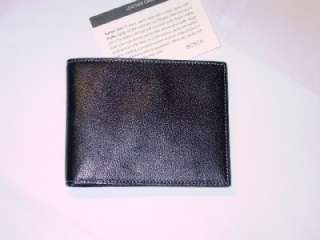 BOSCA MENS BLACK SOFT LEATHER EXECUTIVE WALLET   NEW HIGH QUALITY