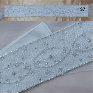 Styles Custom Adjustable Rhinestone Crystal Bridal Belt/Sash Dresses