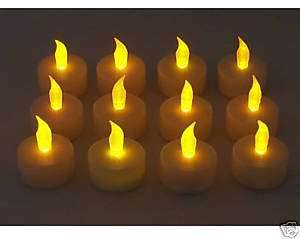 FLICKERING FLAMELESS LED Tea Light   SET OF 12