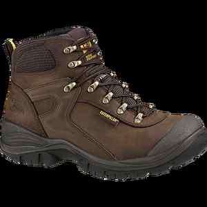CATERPILLAR Mens Pneumatic WATERPROOF Steel Toe Work Boots Dark Brown