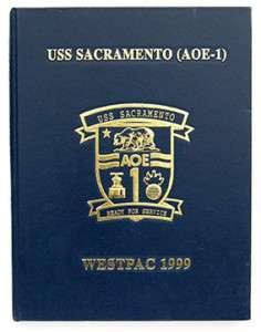USS SACRAMENTO AOE 1 WESTPAC CRUISE BOOK 1999