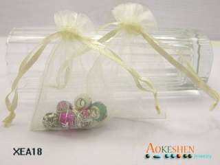 100x Wedding gift favor bag jewelry organza candy pouches 3*3.5 xea18