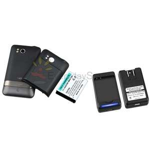 EXTENDED BATTERY+COVER CASE+DOCK CHARGER FOR HTC THUNDERBOLT 4G