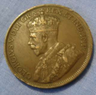 Orson Welles World War I 1915 Canadian Coin Vintage Antique II Canada