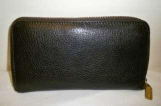 ZIP AROUND organizer Large Coach purse WALLET vintage Brown Leather