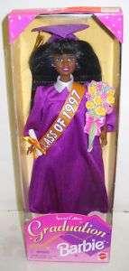 220 NIB Mattel 1997 Graduation African American Barbie