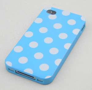 Refreshing Blue White Polka Dots TPU Back Case Cover For Apple iPhone