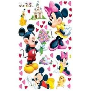 HL5621 Mickey Mouse & Minnie Mouse Dekor fürs Kinderzimmer Wandtattoo