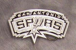 NBA Pewter Belt Buckle San Antonio Spurs NEW