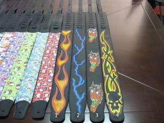 TSUNAMI LGG6000 Leder Gitarrengurt Flamme Totenkopf