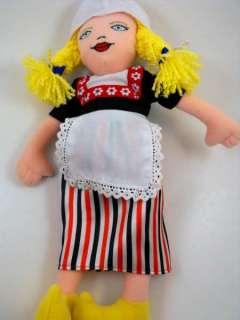 Dutch Boy&Girl Plush Rag Doll Amsterdam NL Souvenir 13