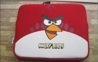 Angry Bird Neoprene Soft Case Sleeve for iPad2 iPad Netbook RED + 2
