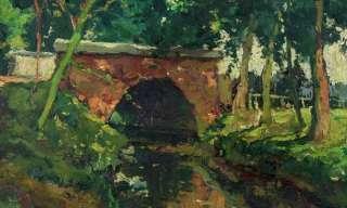Fine Old Belgium Impressionist Oil   Dated 1944