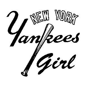 New York Yankees Girl 14 inch Auto Window Sticker Decal