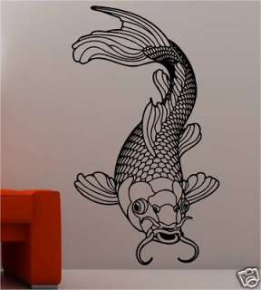 Dolphin 27 bathroom bubbles wall art stickers vinyl decal for Koi carp wall art