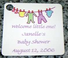 15 PERSONALIZED BABY CLOTHES GIFT TAGS Baby Shower