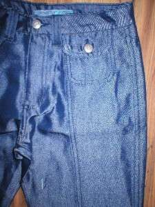 Joes Jeans NEW Shiny Blue flared Leg wide High Wais Pan Buon Flap