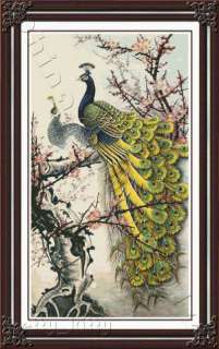 BEAUTIFUL PEACOCK   cross stitch kit   Large Project