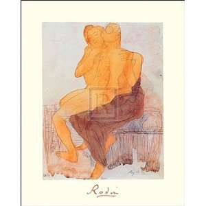 Couple Saphique Assis by Auguste Rodin 16x20: Kitchen