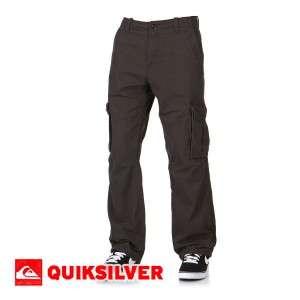 Mens Quiksilver Marshes Dobby Cargo Pants   Raven