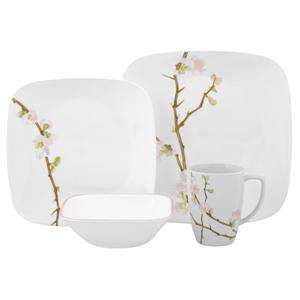 ... Dinnerware Set; CORELLE SQUARE CHERRY BLOSSOM 12 oz.  sc 1 st  PopScreen & Corelle Square Cherry Blossom 32 Piece Dinnerware Set Dishes Plates ...