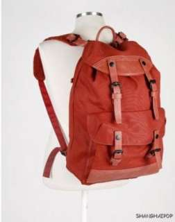 Canvas Rucksack Backpack Japanese Retro Bag Book Red