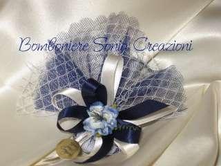 1cm colore blu royal e uno splendido fiorellino di colore blu sfumato