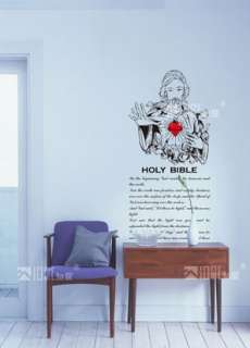 Holy Bible Art Vinyl Decor Wall Paper Sticker Decal 187