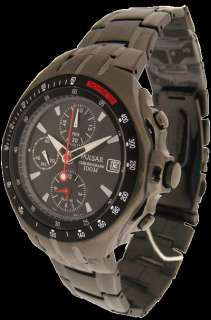 PF3533 New Pulsar Men Gents Chrono Alarm Bracelet Watch