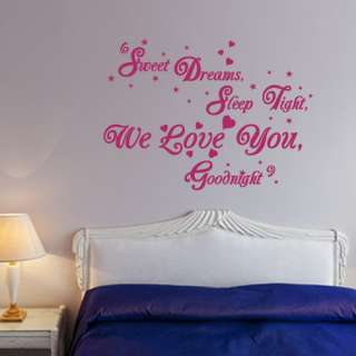 LOVE quote design vinyl wall art design kids nursery sticker decal