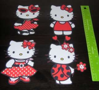 HELLO KITTY VINYL WALL STICKERS STICKAROUNDS