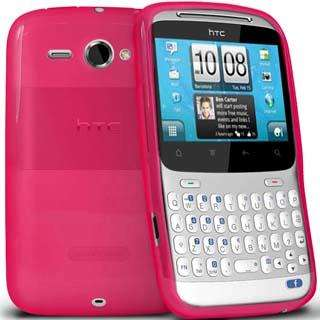 Pack For HTC ChaCha Pink Gel Case + Screen Protector + Car Charger