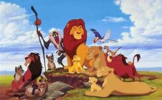 WALT DISNEY PIXAR THE LION KING PELUCHE RE LEONE SIMBA PUMBAA 37 CM