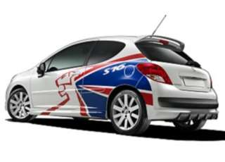 Peugeot 207 S16 rally stickers graphics decals