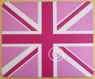 PINK UNION JACK   FLAG   COMPUTER MOUSE MAT