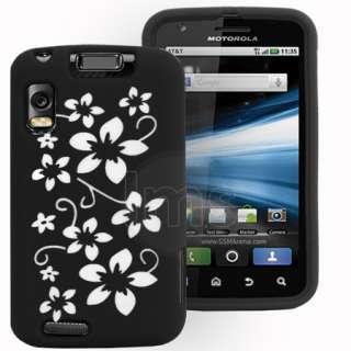Magic Store   Black Flora Silicone Case For Motorola Atrix MB860